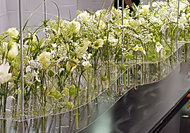 Blumen Messe Event Dekoration